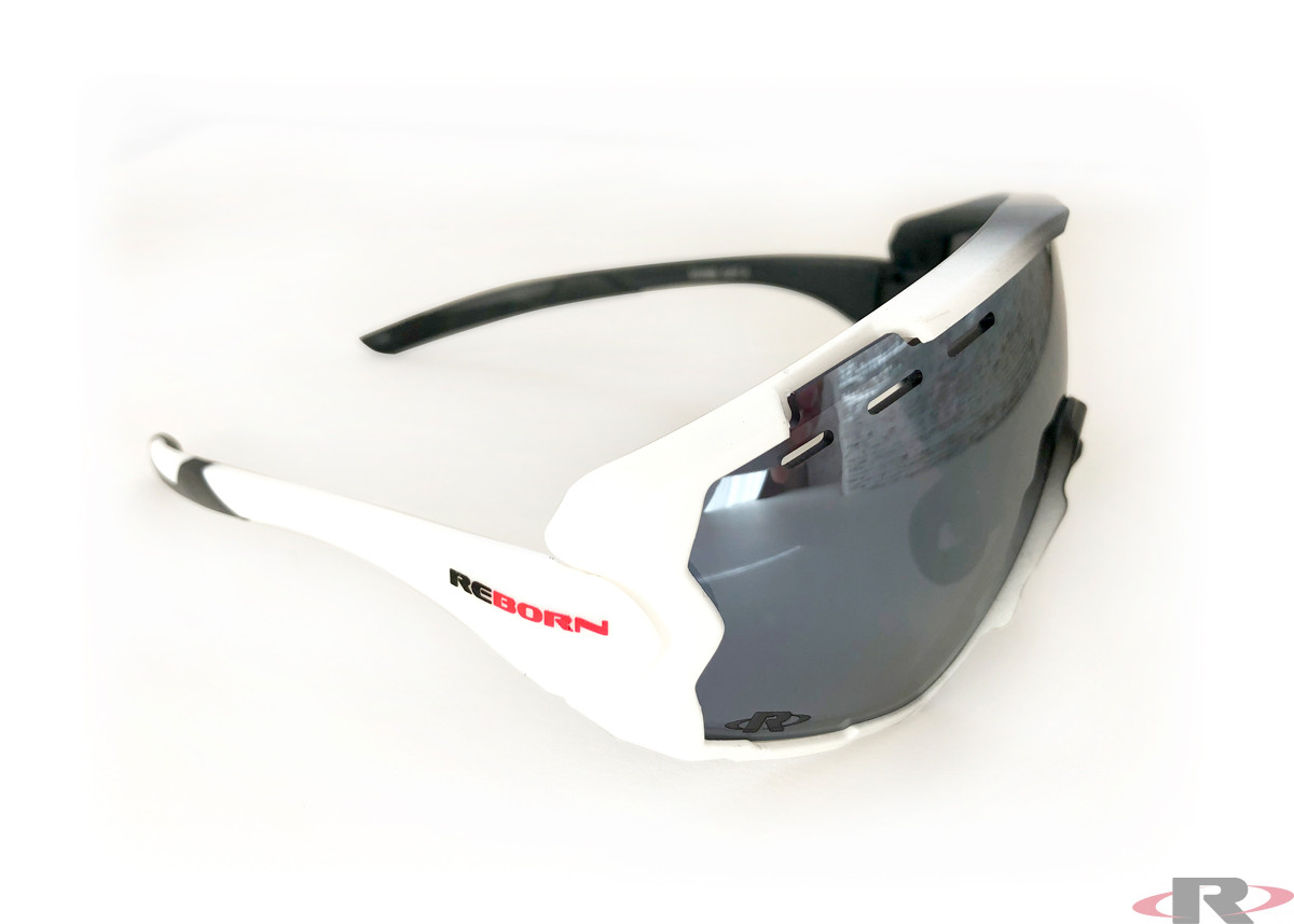 X-PRO Cycle black/white / polarized silvermirror